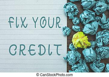 seu, negócio, conceitual, foto, dificuldade, credit.,...