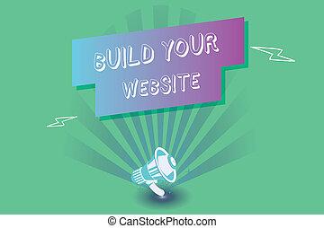 seu, negócio, foto, mostrando, sistema, cima, conceitual, armando, construir, website., showcasing, escrita, ecommerce, mercado, mão