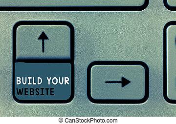 seu, negócio, foto, mostrando, sistema, cima, nota, armando, construir, website., showcasing, escrita, ecommerce, mercado