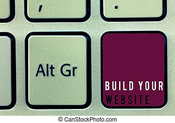 seu, negócio, texto, mostrando, sistema, cima, armando, construir, website., foto, conceitual, sinal, ecommerce, mercado
