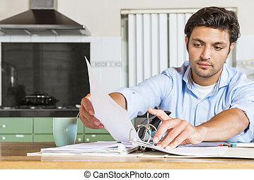 seu, põe, cheques, afastado, administração, gerente