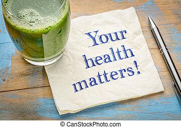 seu, saúde, questões, lembrete