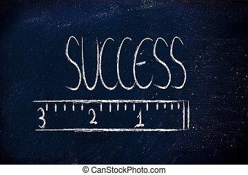 seu, sucesso, medida