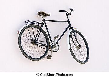 seul, vieux, rouillé, vélo