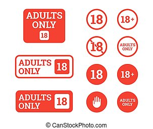 seulement, icônes, adultes, signs?