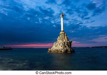 sevastopol, monument, crimea, scuttled, oorlogsschepen,...