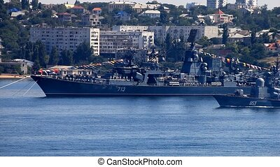 Preparing for Russian Navy Day - SEVASTOPOL, UKRAINE - JULY...