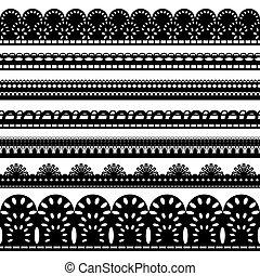 seven black ribbons