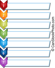 Seven blank business diagram chevron list illustration -...