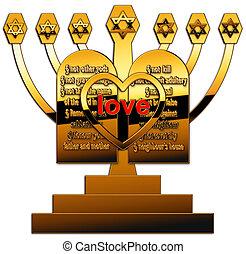 seven branched candelabrum - A seven branched candelabrum...