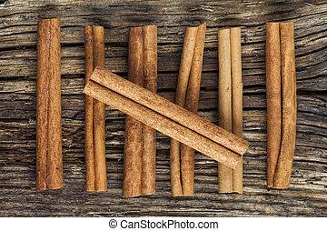 Seven cinnamon barks