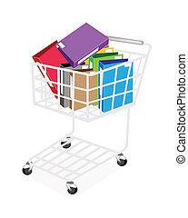 Seven Colors of Office Folder in Shopping Cart - A Shopping...