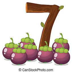 Seven eggplants