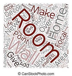 Seven Home Decor Quick Make Over Tips text background wordcloud concept
