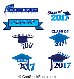 Class of 2017 - Seven mnemonics in blue on Class of 2017 or...