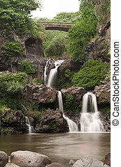 Seven Sacred Pools in Hana, Maui, Hawaii. Beautiful vertical...