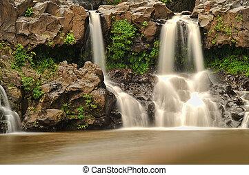 Seven Sacred Pools in Hana, Maui, Hawaii. Beautiful long...
