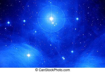 Seven Sisters - Photo of M$% Pleaides nebula taken through ...