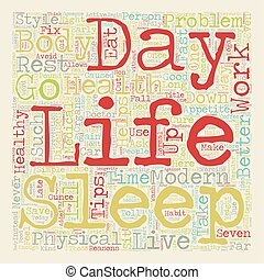 Seven Tips For A Long And Healthy Life text background wordcloud concept