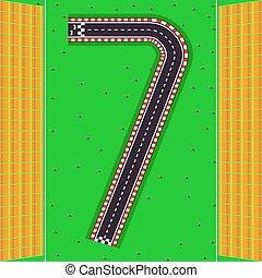 seven., trilhas, espectadores, plataformas, número