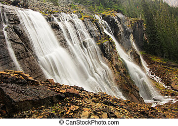 Seven Veils Falls, Lake O'Hara, Yoho National Park, British Columbia, Canada