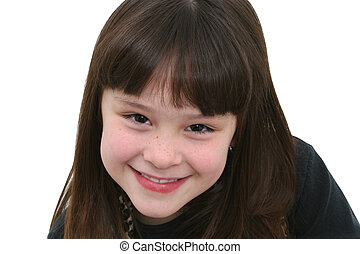 Seven Year Old Girl - Beautiful seven year old girl in black...