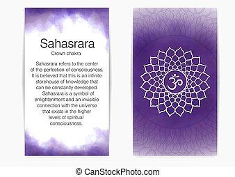 Seventh, crown chakra - Sahasrara