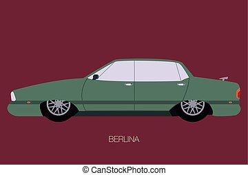seventies american car vector.eps