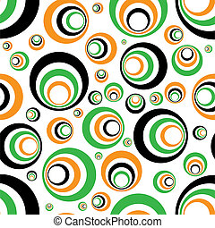 seventies seamless st patricks day background in green and orange