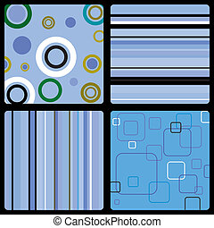 seventies wallpaper blue - Abstract background in the style...