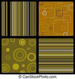 seventies wallpaper brown - Abstract background in the style...