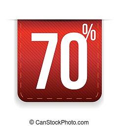 Seventy percent off ribbon red