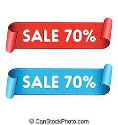 Seventy percent sale red ribbon