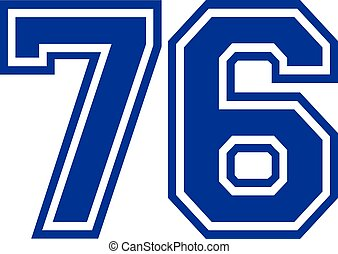 Seventy-six college number 76