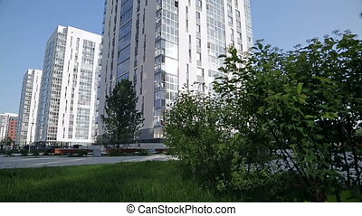Several apartment buildings