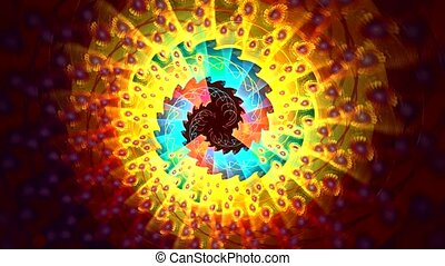 Several beautiful fractals fast transform one into another....