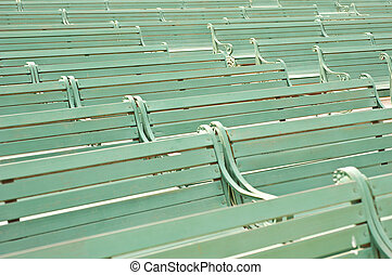 Several Benches in the line