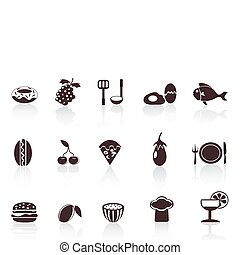 black food icons