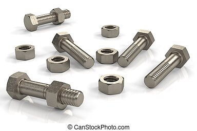 Several bolts and nuts