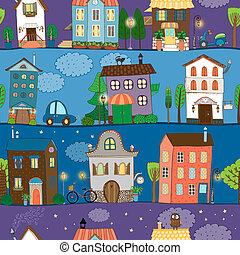 Several colorful and cute house designs