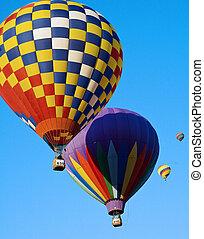 Several colorful balloons - Several colorful hot air ...