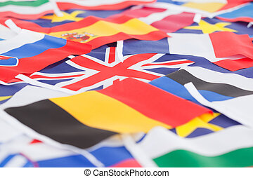 Several country flags