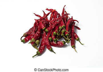 several dehydrate cayenne peppers