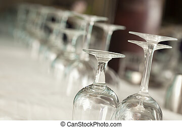 Drinking Glasses Abstract in Formal Dining Room