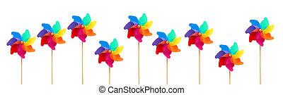 pinwheel - Several large colorful pinwheels against white ...