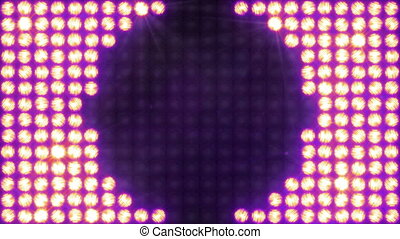Several options Fast flashing of the wall of light - The...