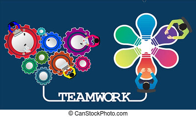 several people sitting in teamwork to solve a problem