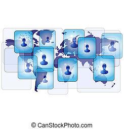 Several persons in social media net