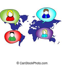 Several persons in social media
