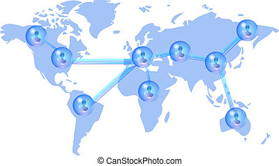 Several persons in social network - Several persons in...